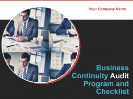 Business Continuity Audit Program And Checklist Powerpoint Presentation Slides