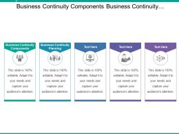 Business Continuity Components Business Continuity Planning Strategic Sourcing