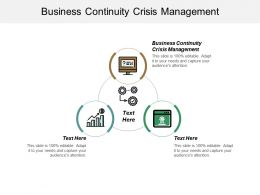 Business Continuity Crisis Management Ppt Powerpoint Presentation Pictures Outline Cpb