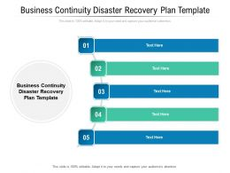 Business Continuity Disaster Recovery Plan Template Ppt Powerpoint Presentation File Portfolio Cpb
