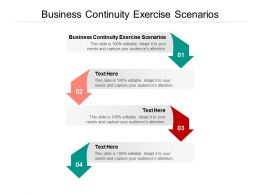 Business Continuity Exercise Scenarios Ppt Powerpoint Presentation Tips Cpb