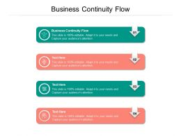 Business Continuity Flow Ppt Powerpoint Presentation Gallery Pictures Cpb