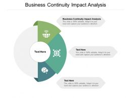 Business Continuity Impact Analysis Ppt Powerpoint Presentation Model Cpb