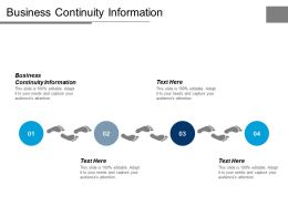 Business Continuity Information Ppt Powerpoint Presentation Icon Tips Cpb