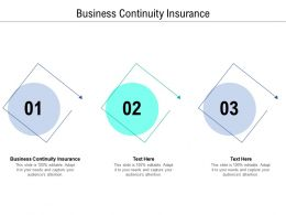 Business Continuity Insurance Ppt Powerpoint Presentation Slides Templates Cpb