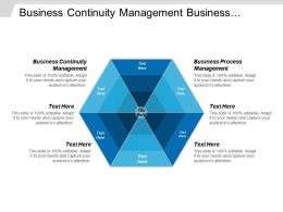 Business Continuity Management Business Process Management Organization Structure Cpb