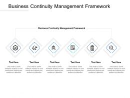 Business Continuity Management Framework Ppt Powerpoint Presentation Show Vector Cpb