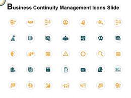 Business Continuity Management Icons Slide Gears Threat Ppt Powerpoint Presentation Gallery Slide Portrait