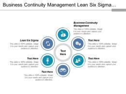 Business Continuity Management Lean Six Sigma Promotions Management Cpb