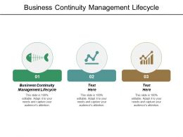 Business Continuity Management Lifecycle Ppt Powerpoint Presentation File Ideas Cpb