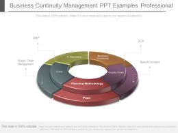Business Continuity Management Ppt Examples Professional