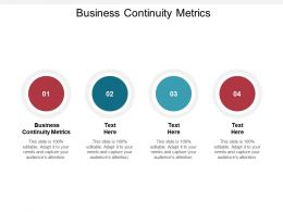 Business Continuity Metrics Ppt Powerpoint Presentation Icon Cpb