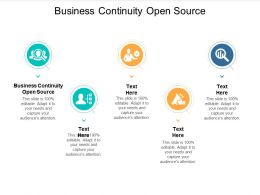 Business Continuity Open Source Ppt Powerpoint Presentation Gallery Guidelines Cpb