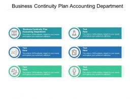 Business Continuity Plan Accounting Department Ppt Powerpoint Inspiration Cpb