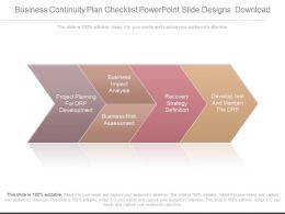 Business Continuity Plan Checklist Powerpoint Slide Designs Download