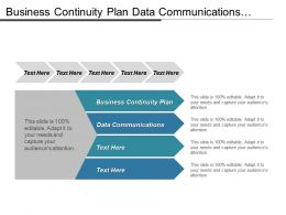 Business Continuity Plan Data Communications Company Profiling Social Media Cpb