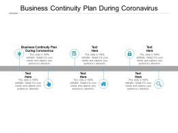 Business Continuity Plan During Coronavirus Ppt Powerpoint Presentation Pictures Cpb