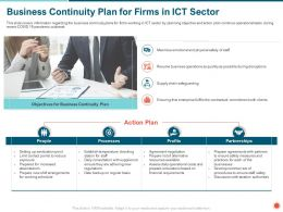 Business Continuity Plan For Firms In ICT Sector Adhering Ppt Powerpoint Presentation File Gallery