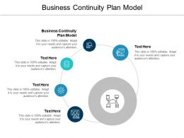 Business Continuity Plan Model Ppt Powerpoint Presentation Summary Master Slide Cpb