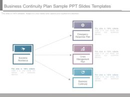 Business Continuity Plan Sample Ppt Slides Templates