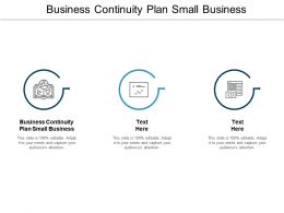 Business Continuity Plan Small Business Ppt Powerpoint Presentation Summary Smartart Cpb