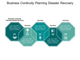 Business Continuity Planning Disaster Recovery Ppt Powerpoint Presentation Show Vector Cpb