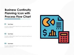 Business Continuity Planning Icon With Process Flow Chart