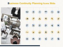 Business Continuity Planning Icons Slide Agenda Threat Ppt Powerpoint Presentation Infographics Visuals