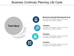 Business Continuity Planning Life Cycle Ppt Powerpoint Presentation Icon Design Cpb