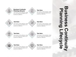Business Continuity Planning Lifecycle Ppt Powerpoint Presentation Pictures Information Cpb