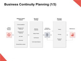 Business Continuity Planning Maintenance Recovery Strategy Ppt Powerpoint Presentation Gallery