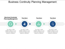 Business Continuity Planning Management Ppt Powerpoint Presentation Icon Deck Cpb