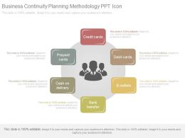 Business Continuity Planning Methodology Ppt Icon