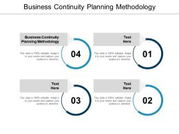 Business Continuity Planning Methodology Ppt Powerpoint Presentation Infographics Good Cpb