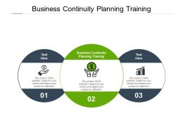 Business Continuity Planning Training Ppt Powerpoint Presentation Summary Cpb