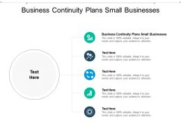 Business Continuity Plans Small Businesses Ppt Powerpoint Presentation Model Cpb