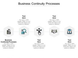 Business Continuity Processes Ppt Powerpoint Presentation Show Display Cpb