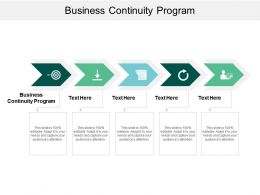 Business Continuity Program Ppt Powerpoint Presentation Inspiration Guidelines Cpb