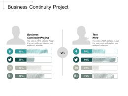 Business Continuity Project Ppt Powerpoint Presentation Portfolio Visual Aids Cpb