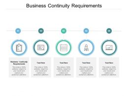 Business Continuity Requirements Ppt Powerpoint Presentation Professional Picture Cpb