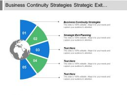 Business Continuity Strategies Strategic Exit Planning Strategy Implementation