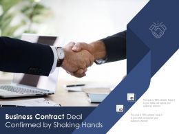 Business Contract Deal Confirmed By Shaking Hands