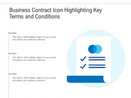Business Contract Icon Highlighting Key Terms And Conditions