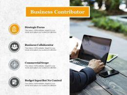 Business Contributor Budget Input But No Control