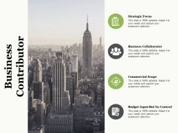Business Contributor Business Collaborator Strategic Focus