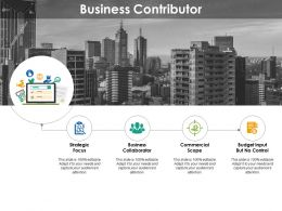 Business Contributor Ppt Inspiration Backgrounds