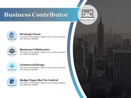 Business Contributor Strategic Focus Business Collaborator Commercial Scope