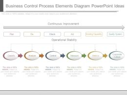 Business Control Process Elements Diagram Powerpoint Ideas