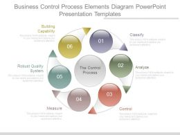 Business Control Process Elements Diagram Powerpoint Presentation Templates