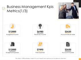 Business Controlling Business Management Kpis Metrics Ppt Guidelines